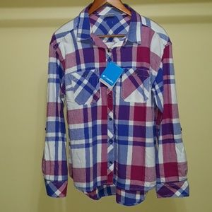 Columbia Wildscape Plaid Flannel Shirt